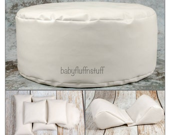 Travel Round or Square Poser, Set of Wedge Poser Pillows and Five Pack of Posing Pillows