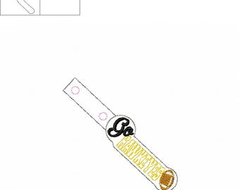 Go Hawkeyes - Football - Key Fob In The Hoop - DIGITAL Embroidery DESIGN