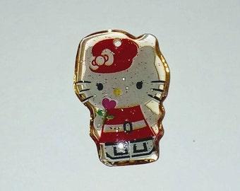 X 1 cat and his red kawaii Cap 20mm plexiglass