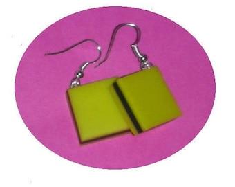 English candy yellow/black earrings