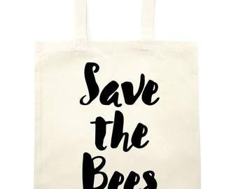 Save the Bees Tote Bag - natural