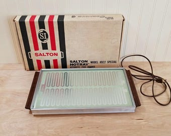 Vintage Salton Hottray Food Warmer Model H922 Hot Tray Electric Warming Tray Warming Plate Hot Plate Electric Tray