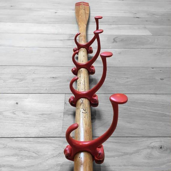 Coat Hooks Wooden Oars Red Vintage School Hooks Cloakroom