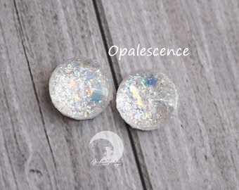 Glitter blind Eyechips Pullip and Yeolume glass - size 12 or 13mm - Opalescence - NEW!