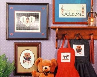 Heartfelt Welcome By Schoolhouse Designs Vintage Cross Stitch Pattern Leaflet 1984