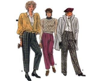 Women's Straight Pants Sewing Pattern Misses Size 8, 10, 12 Uncut Vintage Very Easy Vogue 9417