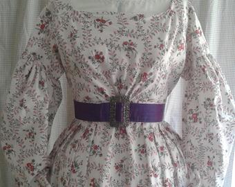 Romantic Era Dress - 1820s/1830s replica - completely handsewn