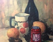 Simpsons Duff Beer Parody - Altered Thrift Art- Print Poster Canvas - Funny Simpsons Duff Beer Artwork Print Painting Humor Art for Man Cave