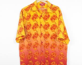 vintage JNCO tigers button down shirt - mens large