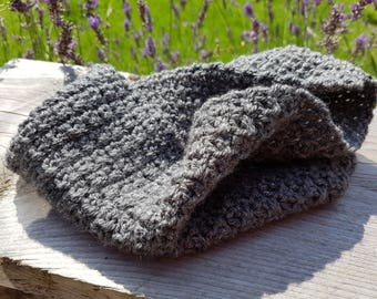 Handmade Crocheted Grey Snood
