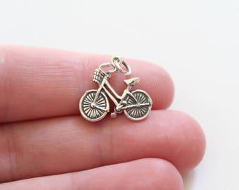 Sterling Silver Bike Charm, Cute Bike Charm, Bicycle Charm, Bicycle Pendant, Bike Pendant, Realistic Bike Charm, 3D Bike Pendant, Bicycle