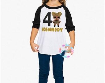 LOL Doll Birthday Shirt, Lol Birthday, LOL Surprise, LOL Shirt, Personalized Lol Shirt, Queen Bee, Lol Party, Surprise Doll, Girl Lol Shirt