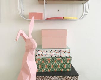 DIY Bunny, Rabbit Sculpture, Paper Bunny