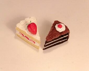 Mini Cake Magnet(Strawberry or Chocolate)