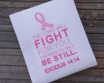 Cancer Awareness embroidered shirt, Breast Cancer Shirt, Pink Ribbon Shirt,Cancer Shirt, embroidered shirt, embroidered,