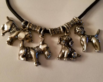 Vintage Creations Marcasite Puppy Necklace