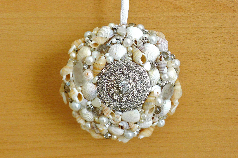 Muschel deko wanddekoration ornament muscheln wandbehang - Muschel dekoration ...