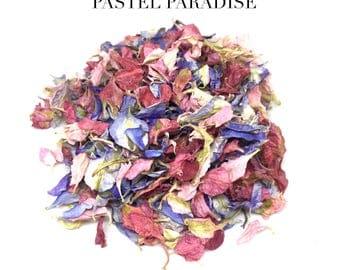 Wedding confetti mixed natural biodegradable wedding confetti petals 1 litre (Pastel Paradise)