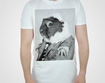 Guinea Pig Tshirt White Hipster T shirt Cute Swag Top Fashion Dope Tee New Mens Womens Downton Period Drama