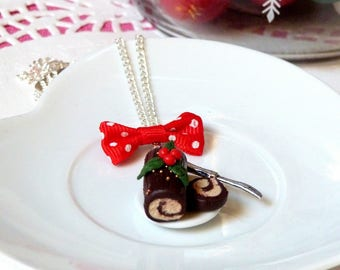 Necklace * edition Christmas * delicious Christmas log