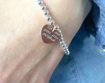 Bracelet entirely in 925 silver engraved by hand