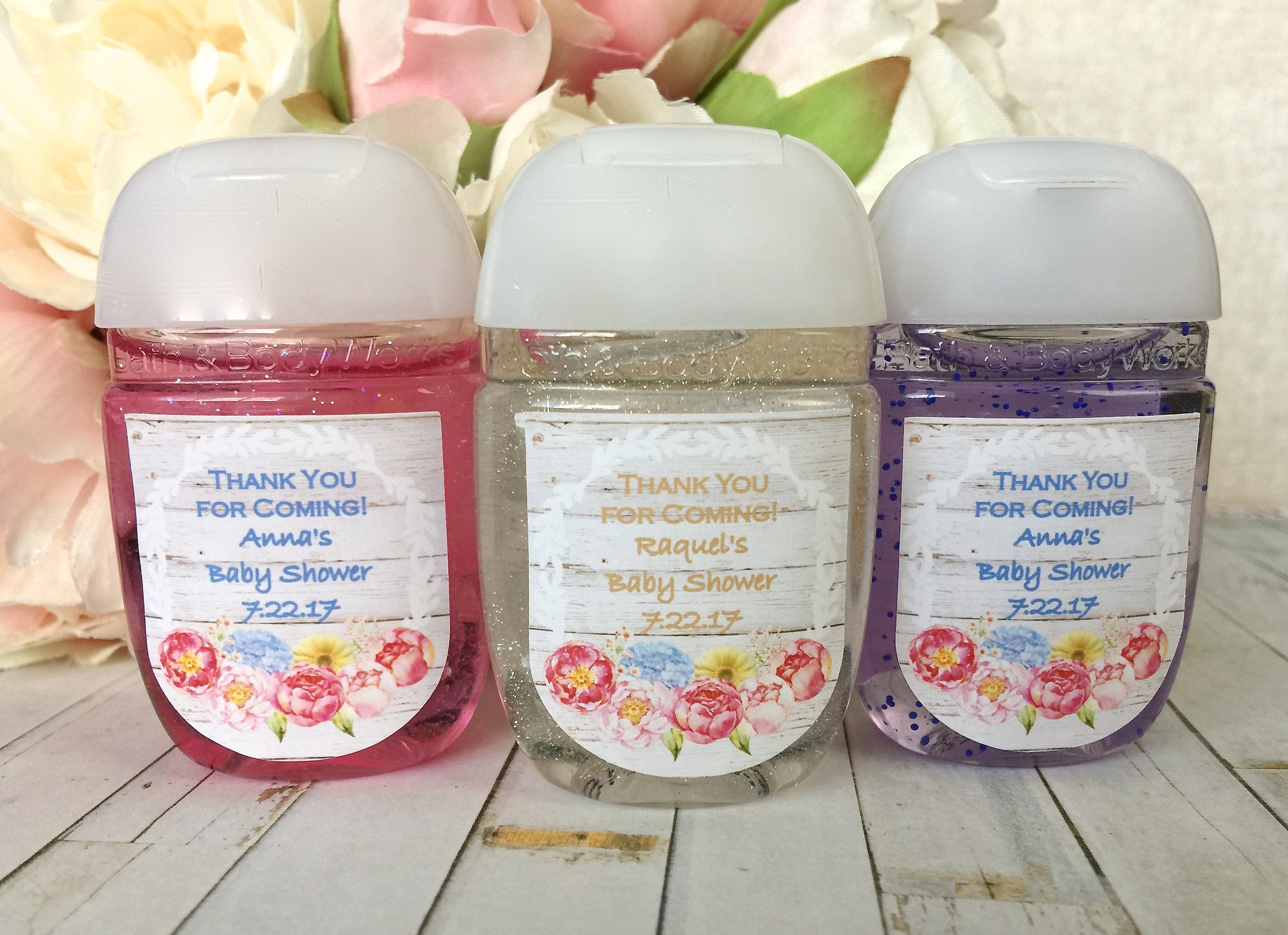 Boho baby shower favor label boho bridal shower hand for Hand sanitizer bridal shower favors