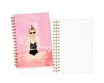 Spiral Notebook: Watermelon Girl