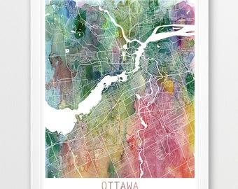 Ottawa map etsy ottawa city urban map poster ottawa street print watercolor map ottawa canada modern gumiabroncs Gallery