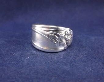 "Spoon Ring 1950  ""Daffodil"" Handmade Spoon Jewelry Size 7"