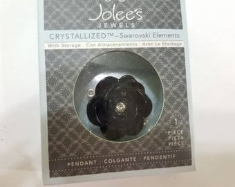 Swarovski, Crystal, Jolee's Jewels, Black, Rose, Flower, Floral, Connector, Link, NIB, Pendant, Jewelry, Beading, Supply, Supplies
