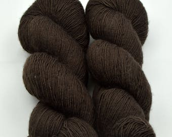 MERINO SINGLE Brown burnt dyed with catechù