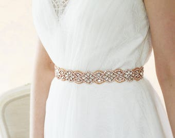Rose Gold Wedding Dress Belt