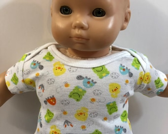 "15 inch Bitty Baby Boy or Twin Doll, TOP Only, Cute ""FROGS, Turtles and DUCKS"" Top, 15 inch Bitty Baby Clothes Boy, Top Only- 4.00 Dollars"
