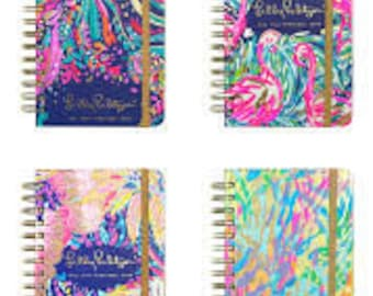 Monogrammed Lilly Pulitzer Inspired Large Agendas 2017-2018