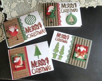 Santa Christmas Cards (Handmade)