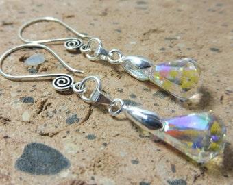 Swarovski Crystal Earrings, Crystal Earrings, Long Crystal Earrings, Hypoallergenic Sterling Silver Earrings, Crystal Jewelry, Gift Idea