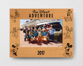 personalized disney frame our disney adventure frame disney character custom disney frame - Disney Picture Frames