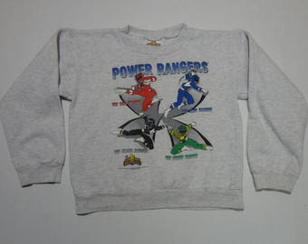 Mighty Morphin Power Rangers Sweatshirt Vintage 1994 10-12