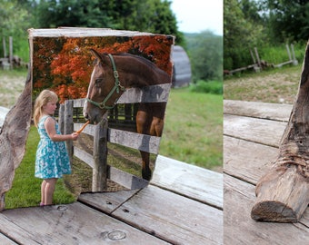 Wood Photo Art - Unique Customized Sculpture - Large Heavy