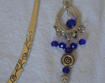 Beautiful Cobalt Blue Silver Bookmark