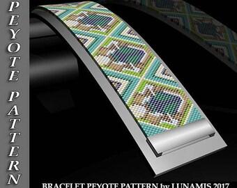 Peyote bracelet pattern, odd count, peyote pattern, stitch pattern, pdf file, pdf pattern, #102P