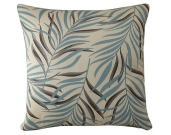 Palm Leaves Cushion, Throw Pillow Cover 16x16/18x18, Botanical Decor, Tropical Leaf Cushion Cover, Tropical Decor - Free Shipping UK