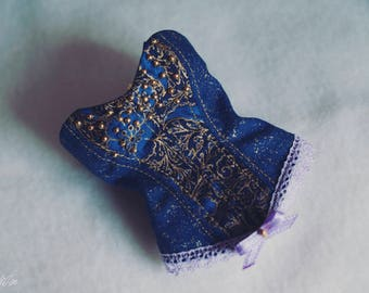BJD MNF Royal Blue Corset