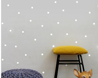 White Dot Wall Decals, Polka Dots Wall Stickers, Nursery Wall Decor