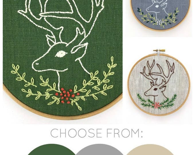 Stag Embroidery Kit {basic}