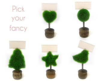 20 pcs Little Shrub Place Card Holders - Tree Table card holders - Wedding, Party Banquets Table Decors