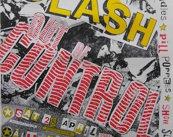 Rare Original 1984 The Clash U.S.A  'Out of Control' Tour Poster