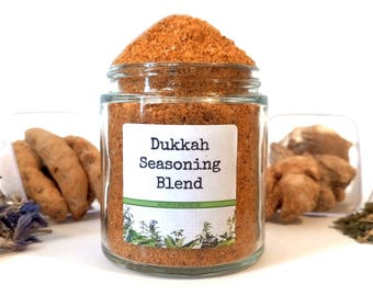 Dukkah Seasoning Blend African Egyptian Spice Mix Duqqa Dipping Condiment Foodie Gift