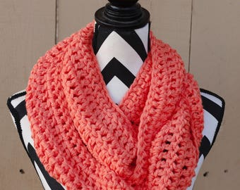 Ready to Ship Coral Infinity Scarf