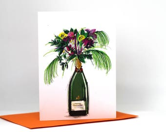 Greetings card / illustrated card / birthday card / congratulations / celebration card / mothers day / anniversary card / illustration